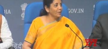 New Delhi: Union Finance and Corporate Affairs Minister Nirmala Sitharaman addresses a Post-Budget press conference in New Delhi on Feb 1, 2020. (Photo: IANS)