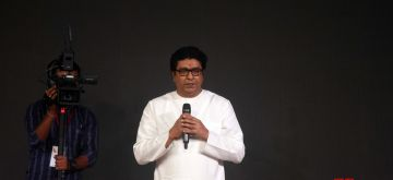 Mumbai: Maharashtra Navnirman Sena (MNS) President Raj Thackeray addresses at the party's first mega-convention, at the NSE Ground in Goregaon, Mumbai on Jan 23, 2020. (Photo: IANS)