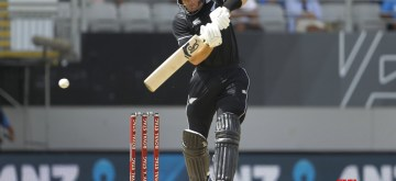Auckland: New Zealand's cricketer Martin Guptill in action during the 2nd ODI of the three-match series between India and New Zealand at the Eden Park in Auckland,New Zealand on Feb 8, 2020. (Photo: IANS)