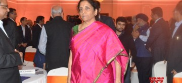 Kolkata: Union Finance and Corporate Affairs Minister Nirmala Sitharaman during an interactive session with opinion makers and reviewing their suggestion on Union Budget 2020, in Kolkata on Feb 9, 2020. (Photo: IANS/PIB)