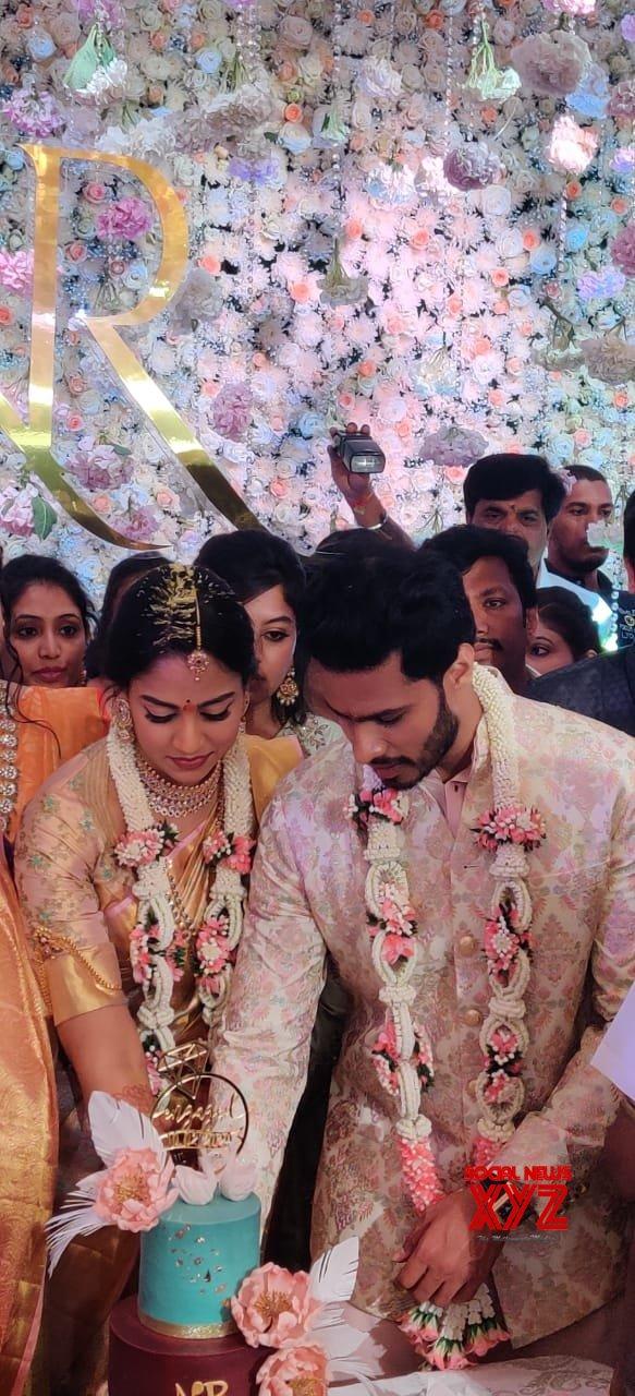 Bengaluru: Kumaraswamy's son Nikhil gets engaged to Revathi #Gallery