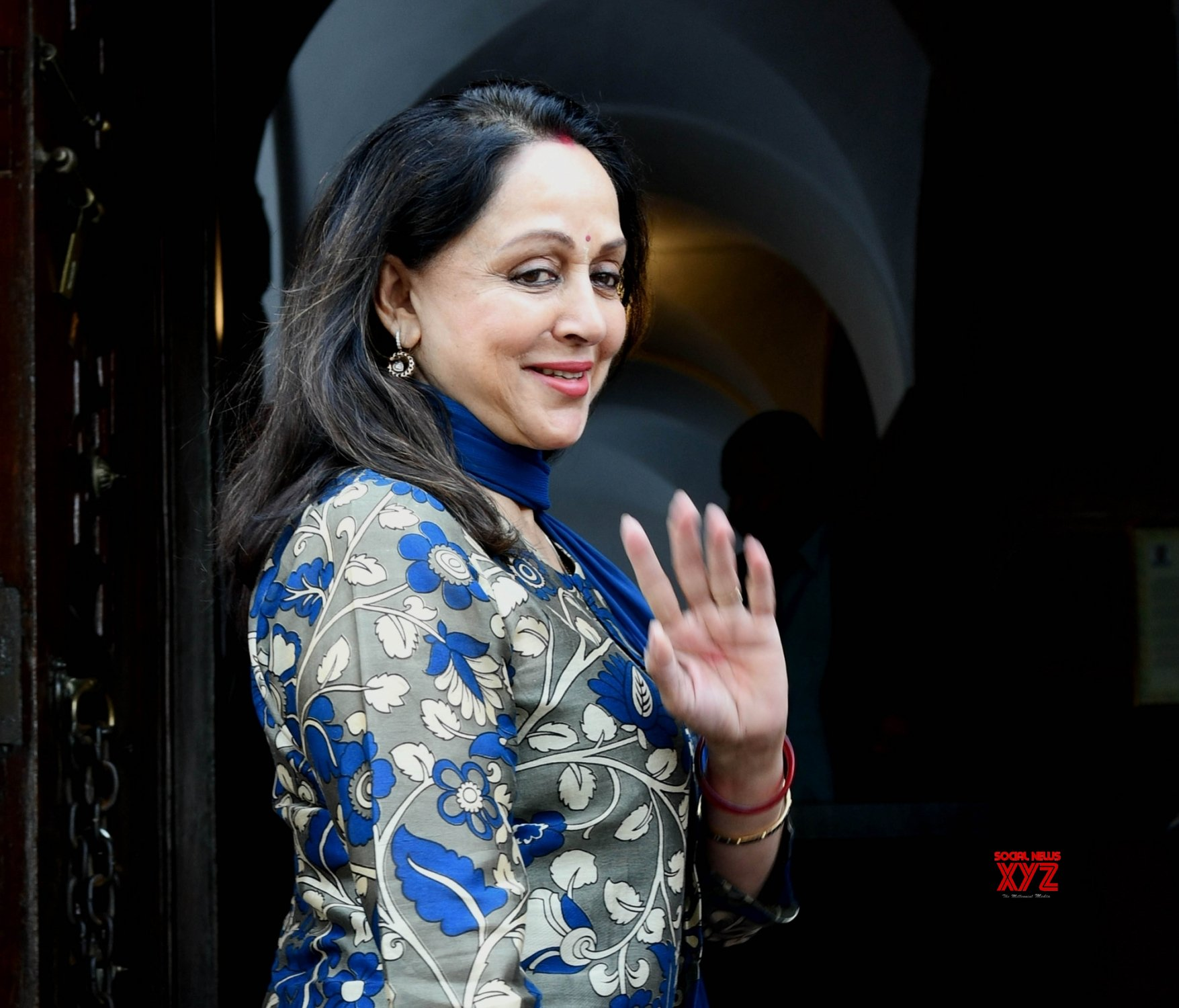 New Delhi: Budget Session - Hema Malini at Parliament #Gallery