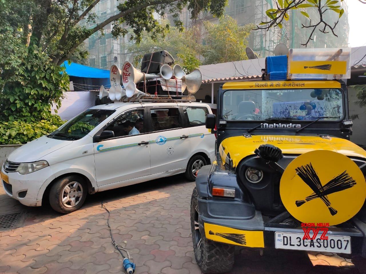 New Delhi: Kejriwal's roadshow jeep #Gallery