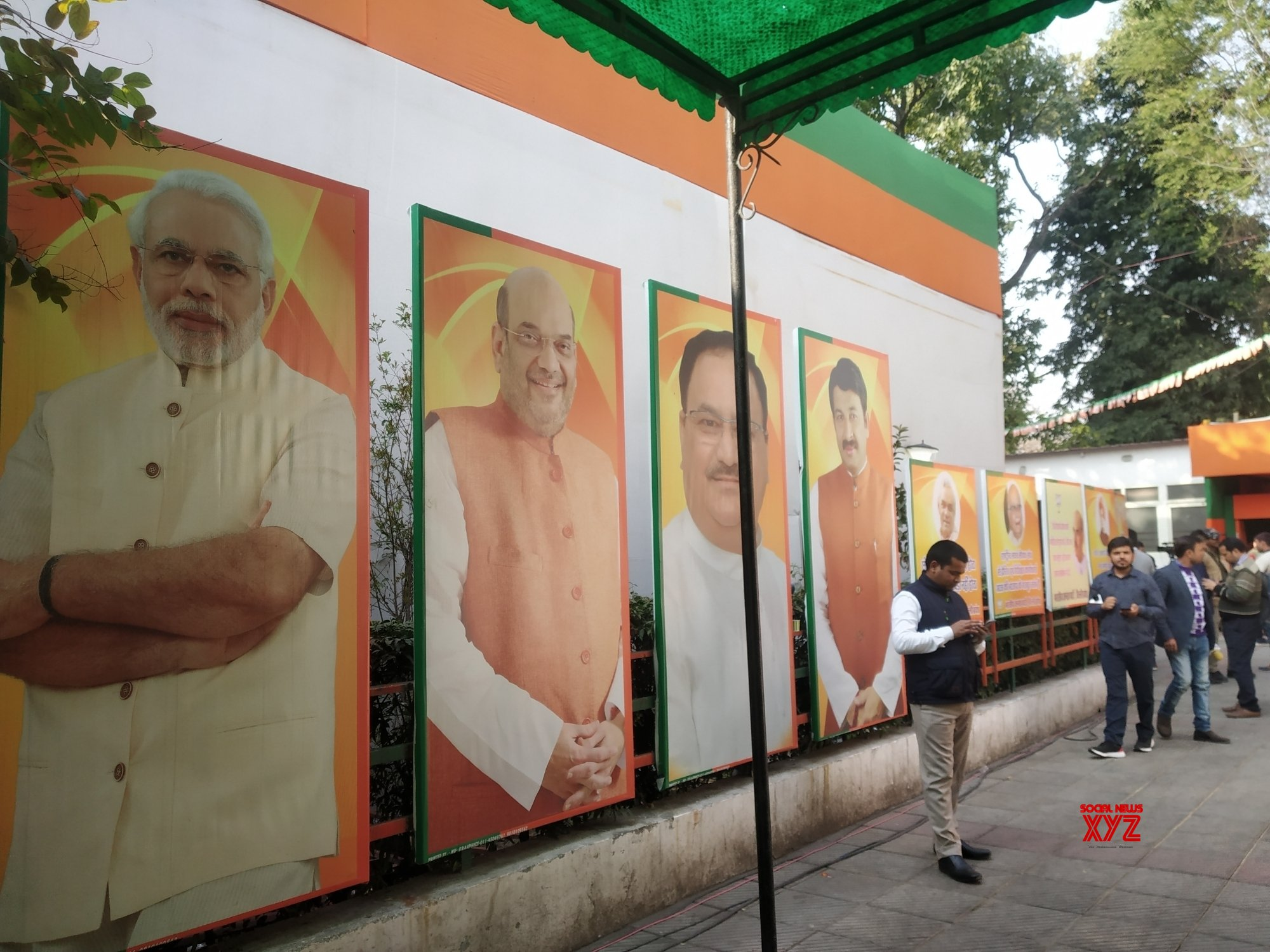 New Delhi: Delhi Polls 2020 results - Delhi BJP office during counting of votes #Gallery