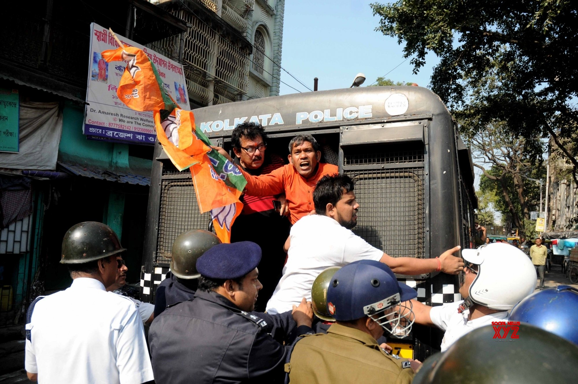 Kolkata: BJP activists detained during protest against West Bengal Govt #Gallery