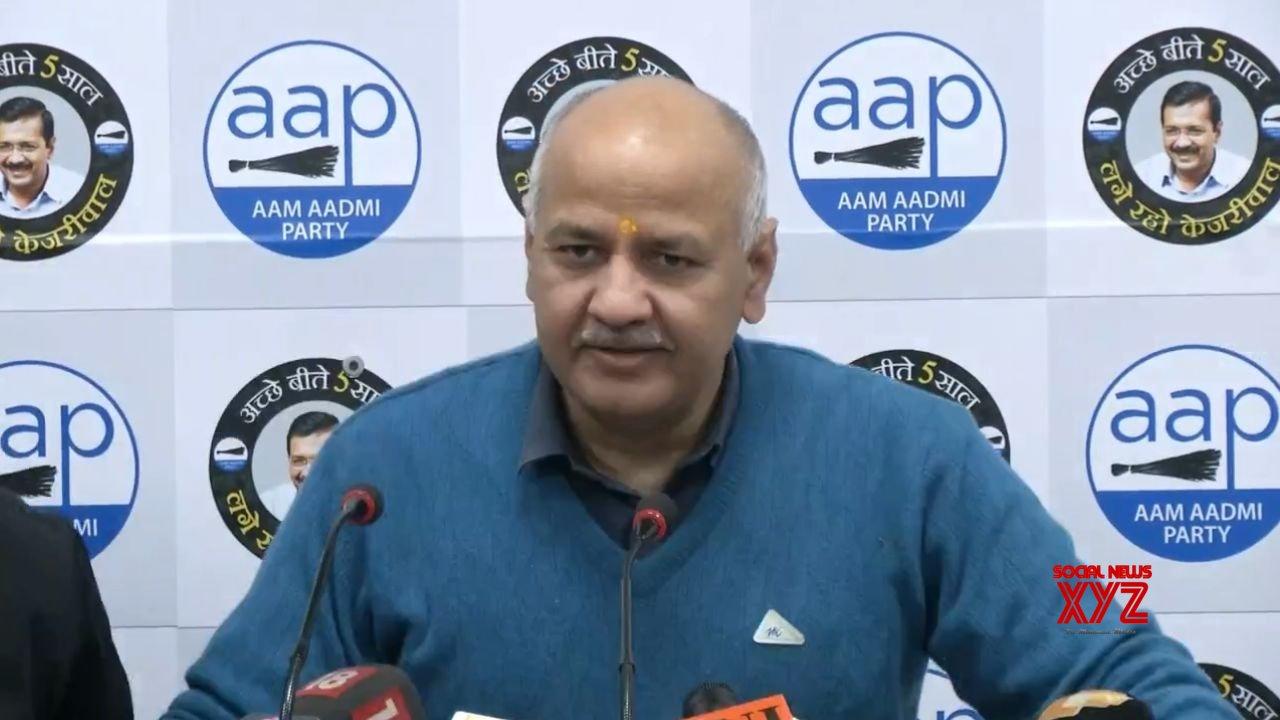 New Delhi: Manish Sisodia's press conference #Gallery