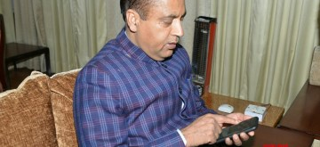 Dharamsala: Himachal Chief Minister Jai Ram Thakur addresses during a programme organised to launch  Himachal Bulletin, daily video capsule of the state government at Dharamshala in Kangra on Feb 13, 2020. (Photo: IANS)