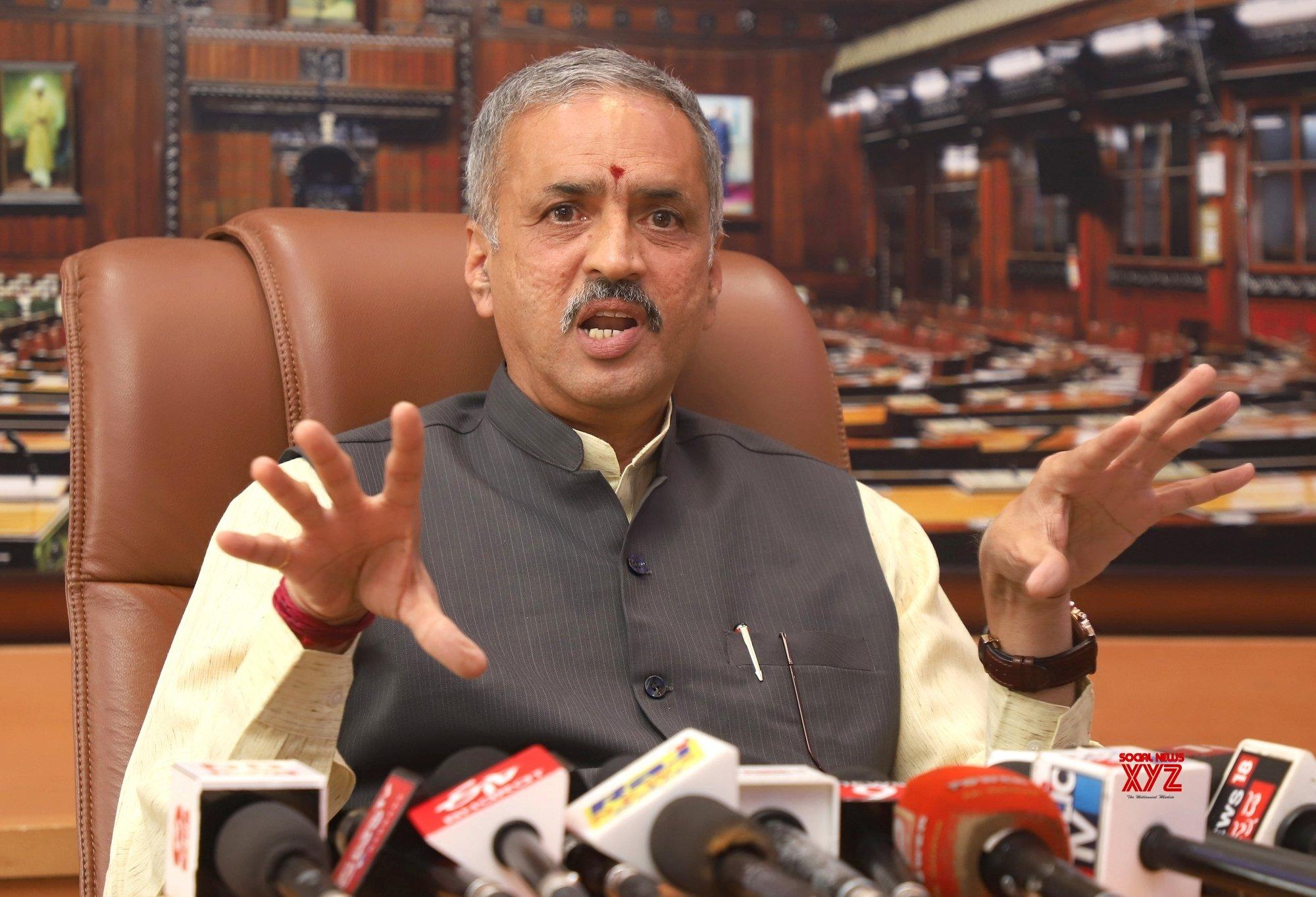 Bengaluru: Karnataka Speaker's press conference #Gallery