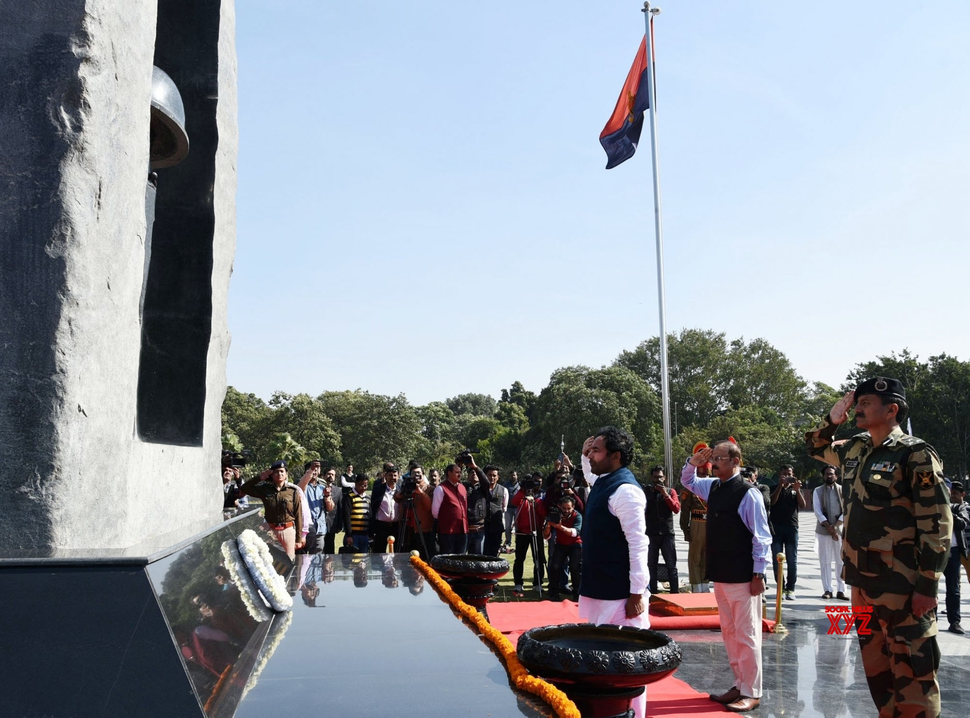 New Delhi: G. Kishan Reddy pays homage to Pulwama martyrs at National Police Memorial #Gallery