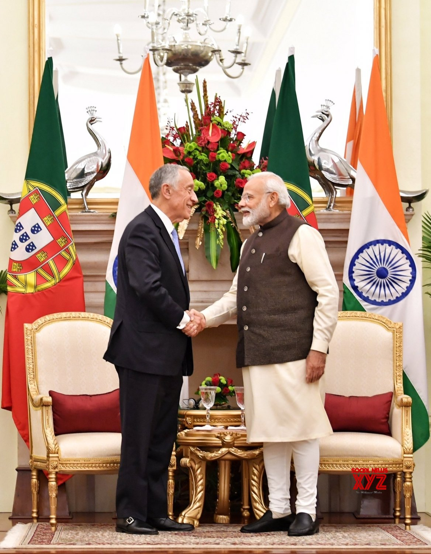 New Delhi: PM Modi, Portuguese President witness exchange of agreements #Gallery