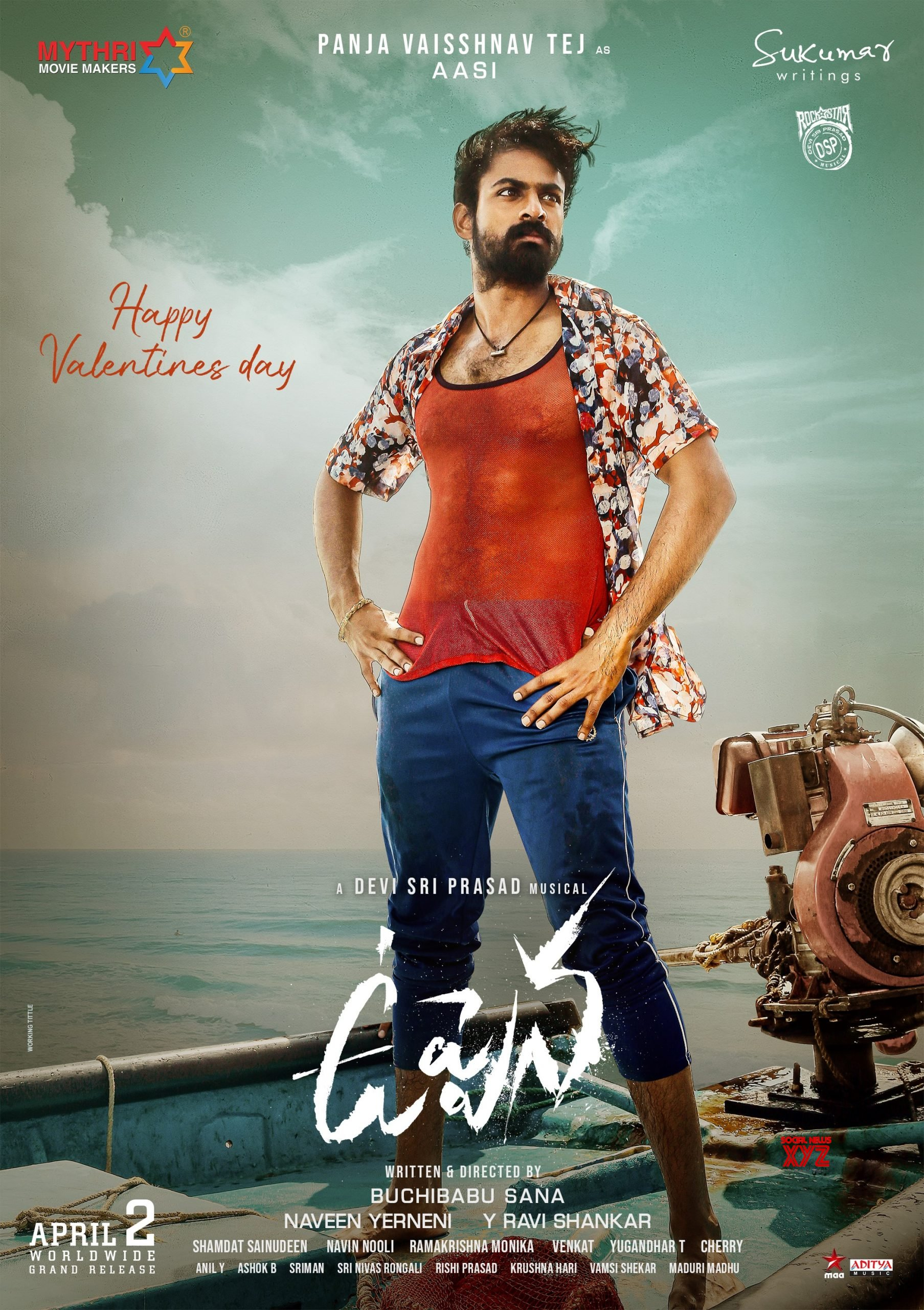 HD Posters And Stills: Vaisshnav Tej And Krithi Shetty's First Look In Uppena Released
