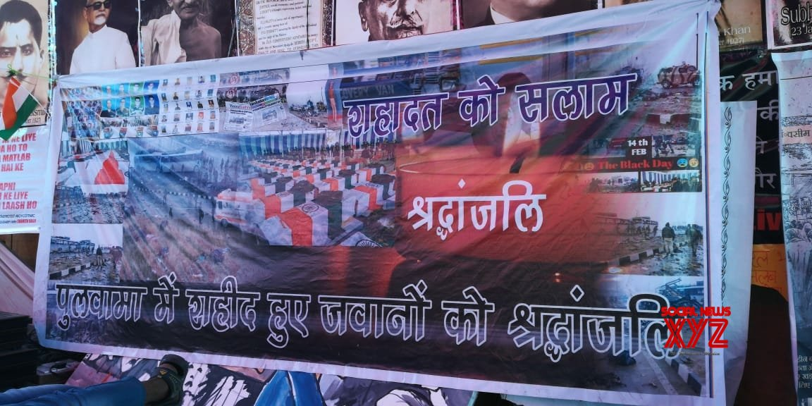 New Delhi: Tributes paid to Pulwama martyrs at Shaheen Bagh #Gallery