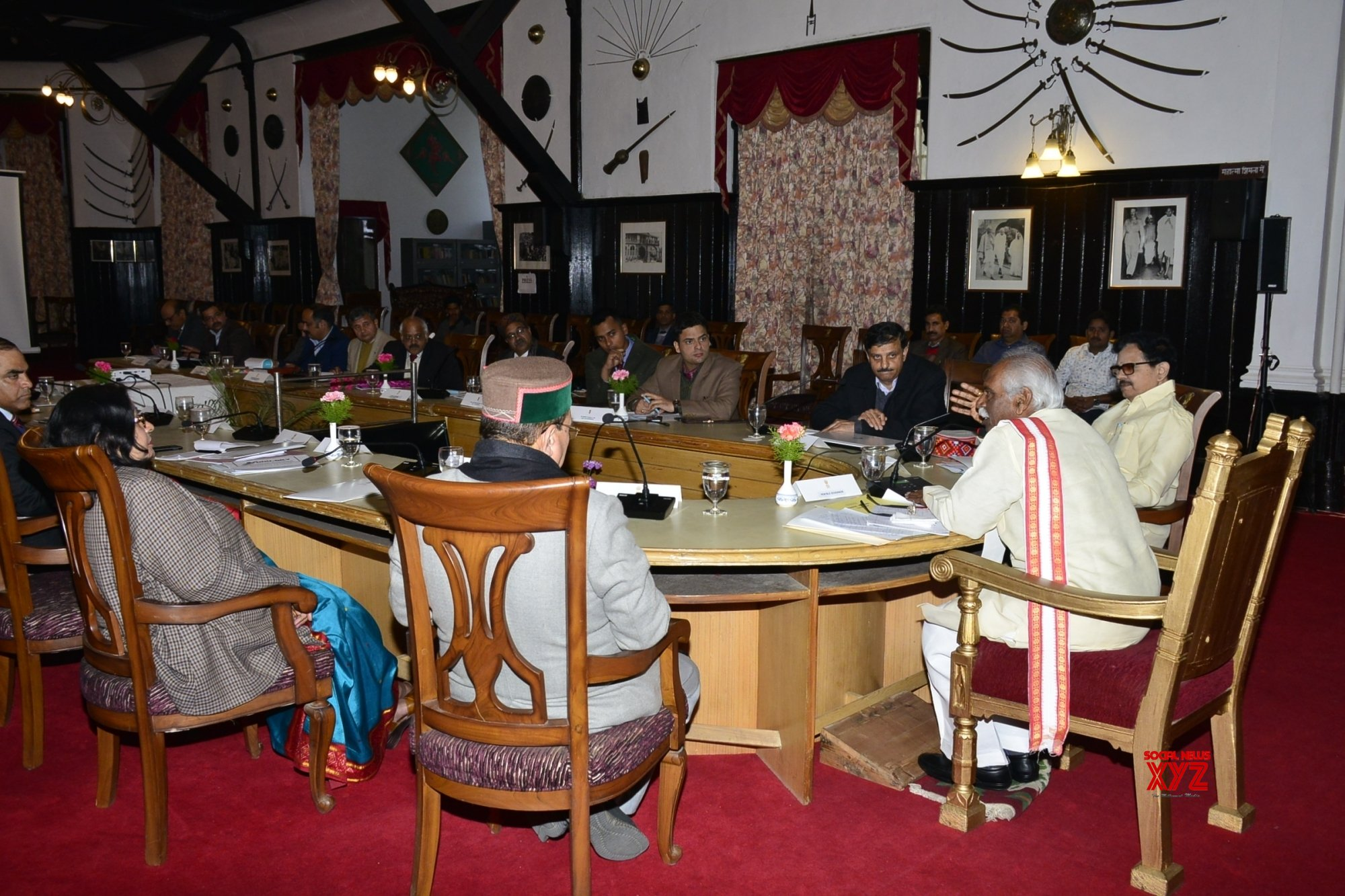 Shimla: Himachal Governor chairs a high - level meeting on education and skill development #Gallery