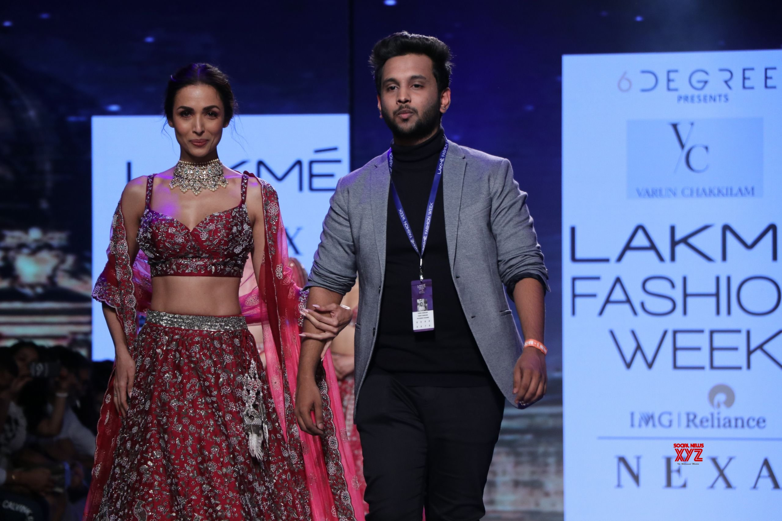 Malaika Arora Walked For Varun Chakkilam At Lakme Fashion Week SR 2020 HD Gallery
