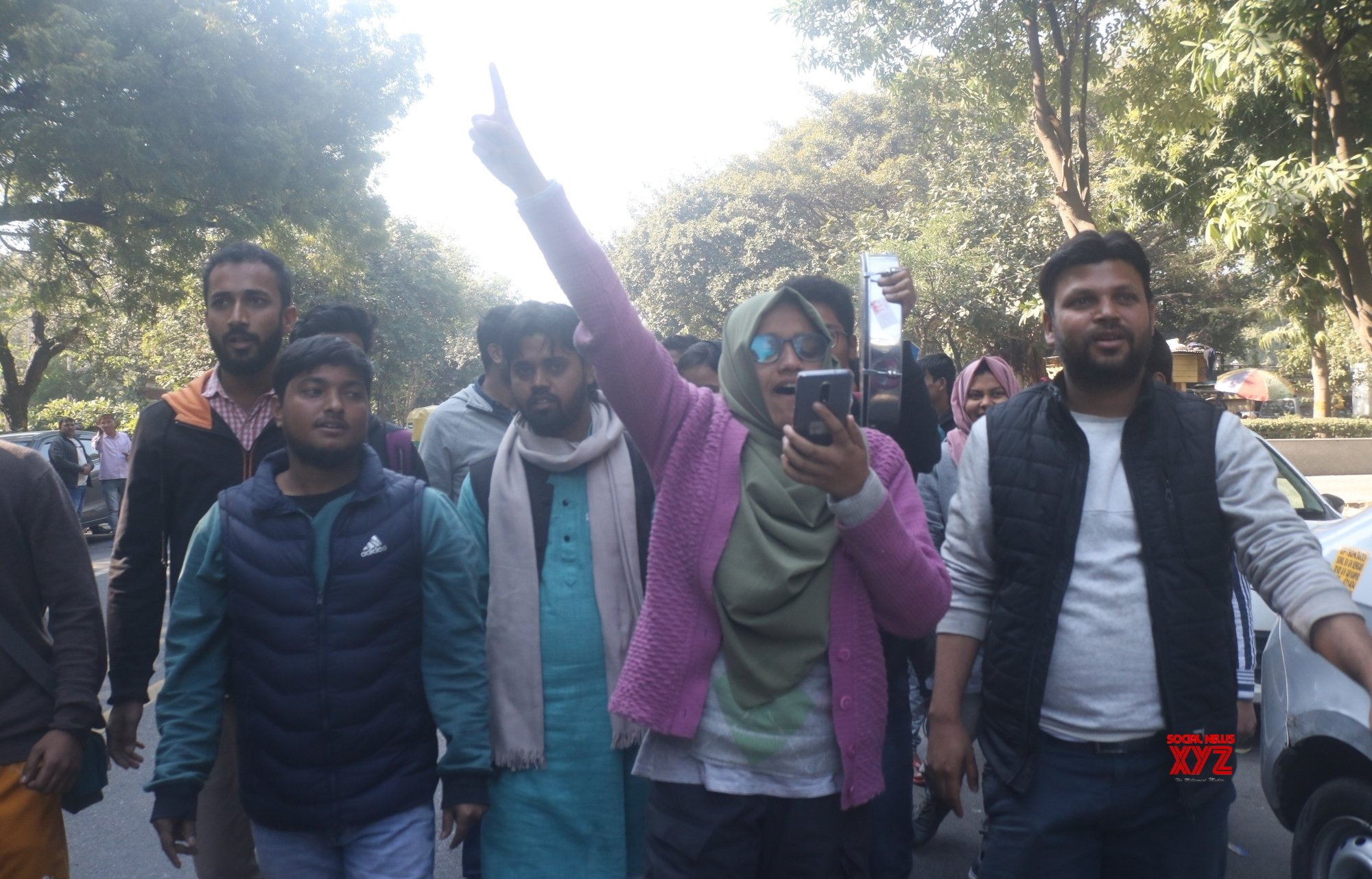 New Delhi: Jamia students protest over the alleged lathicharge on anti - CAA demonstrators #Gallery