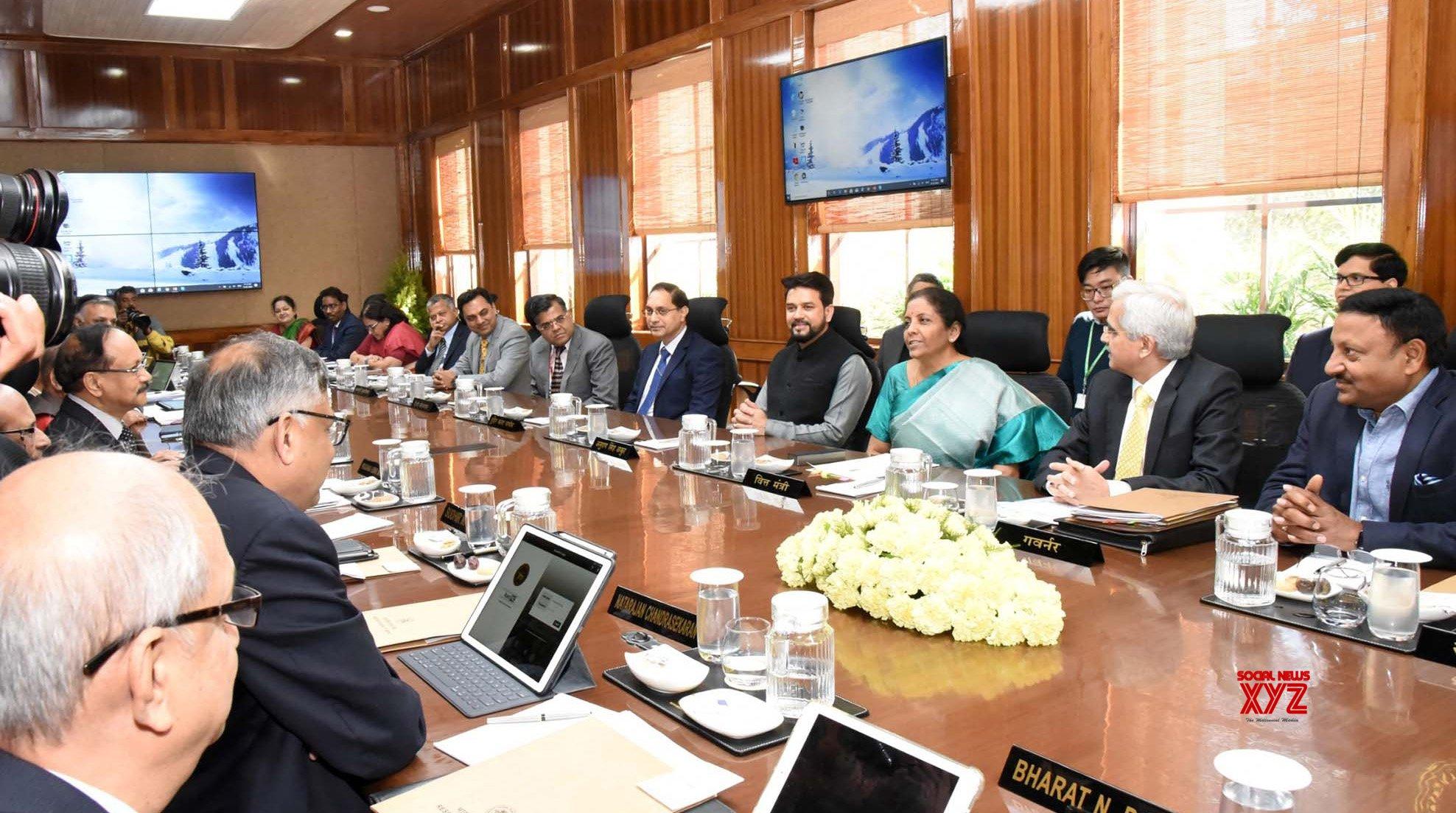 New Delhi: Meeting of Central Board of Directors of RBI - Nirmala Sitharaman #Gallery
