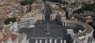 (130919) -- VATICAN, Sept. 19, 2013 (Xinhua) -- The St Peter's square is seen in Vatican, Sept. 17, 2013. (Xinhua/Du Juanjuan) (rh)