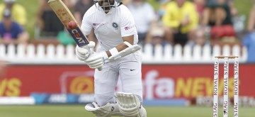 Wellington: India player Ajinkya Rahane in action during the first Test between New Zealand and India at Basin Reserve cricket stadium in Wellington, New Zealand on Feb. 21, 2020. (Photo: Surjeet Yadav/IANS)