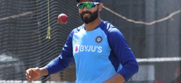 Wellington: Indian player Ravindra Jadeja during the practice session ahead of the first Test against New Zealand at Basin Reserve cricket stadium in Wellington, New Zealand on Feb. 20, 2020. (Photo: Surjeet Yadav/IANS)