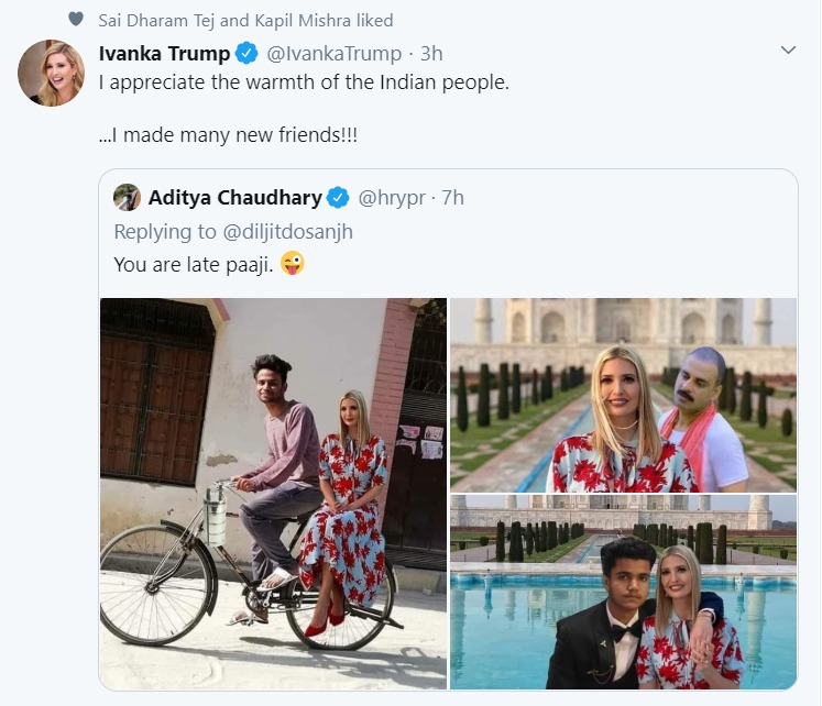 Ivanka Trump Replies To Her Memes Says Made Many New Friends Social News Xyz