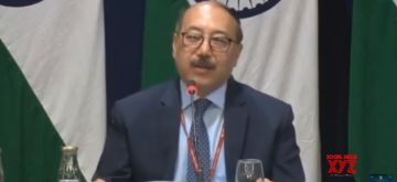 New Delhi: Foreign Secretary Harsh Vardhan Shringla addresses at a special media briefing on the state visit of US President Donald Trump, in New Delhi on Feb 25, 2020. (Photo: IANS/MEA)
