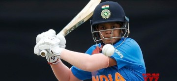 Melbourne: India's Shafali Verma in action during the ICC Women's T20 World Cup 9th match between India and New Zealand at Junction Oval in Melbourne on Feb 27, 2020. (Photo: Twitter/@T20WorldCup)