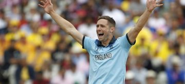 Birmingham: England's Chris Woakes during the second semi-final match of the 2019 World Cup between England and Australia at the Edgbaston Cricket Stadium in Birmingham, England on July 11, 2019. (Photo: Surjeet Kumar/IANS)
