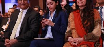 New Delhi: YES Bank Managing Director and CEO Rana Kapoor along with his family at the 4th Global Business Summit in New Delhi on Feb 23, 2018. (Photo: Amlan Paliwal/IANS)