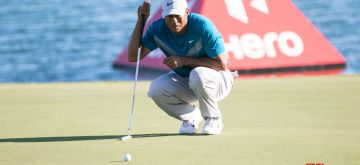 Bahamas: Golfer Tiger Woods during Round 3 at the Hero World Challenge at Albany Championship Course in the Bahamas on Dec. 7, 2019. (Photo:IANS)