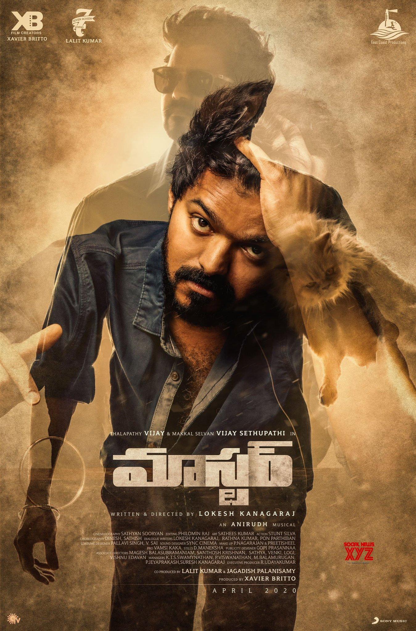 Thalapathy Vijay S Master Movie Telugu And Kannada First Look Posters Social News Xyz