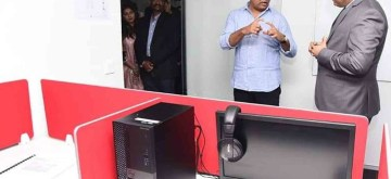 Hyderabad: Telangana Cabinet Minister KT Rama Rao during the inauguration of Flight Simulation Technique Centre (FSTC) at the Rajiv Gandhi International Airport in Hyderabad on March 12, 2020. (Photo: IANS)