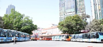 Mumbai: Maharashtra State Road Transport Corporation (MSRTC) buses remain parked at a bus depot in Mumbai's Parel during complete lockdown in the country in a bid to curtail the spread of coronavirus, on March 23, 2020. (Photo: IANS)