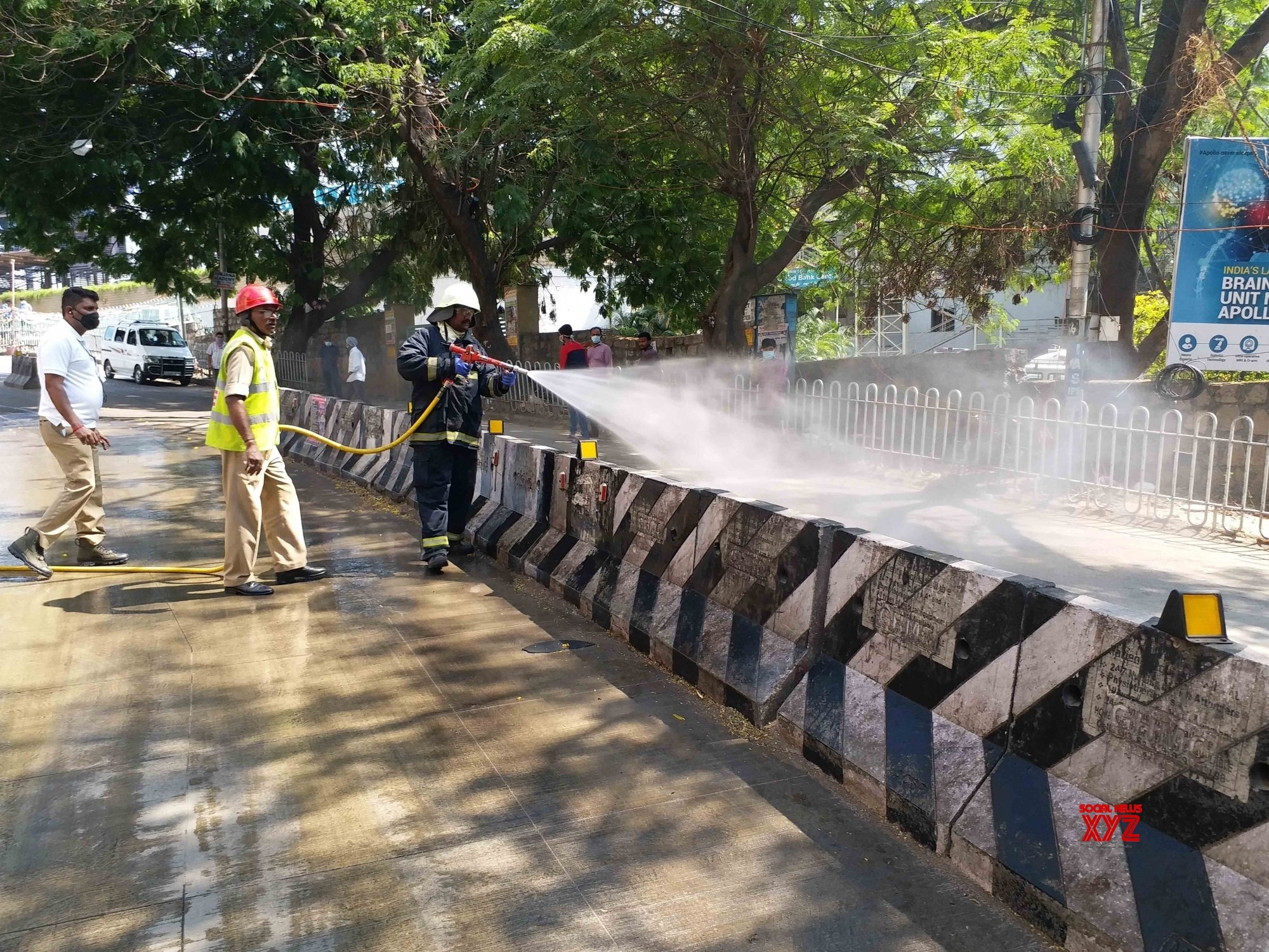 Hyderabad: Disinfectants sprayed accross the city during lockdown #Gallery