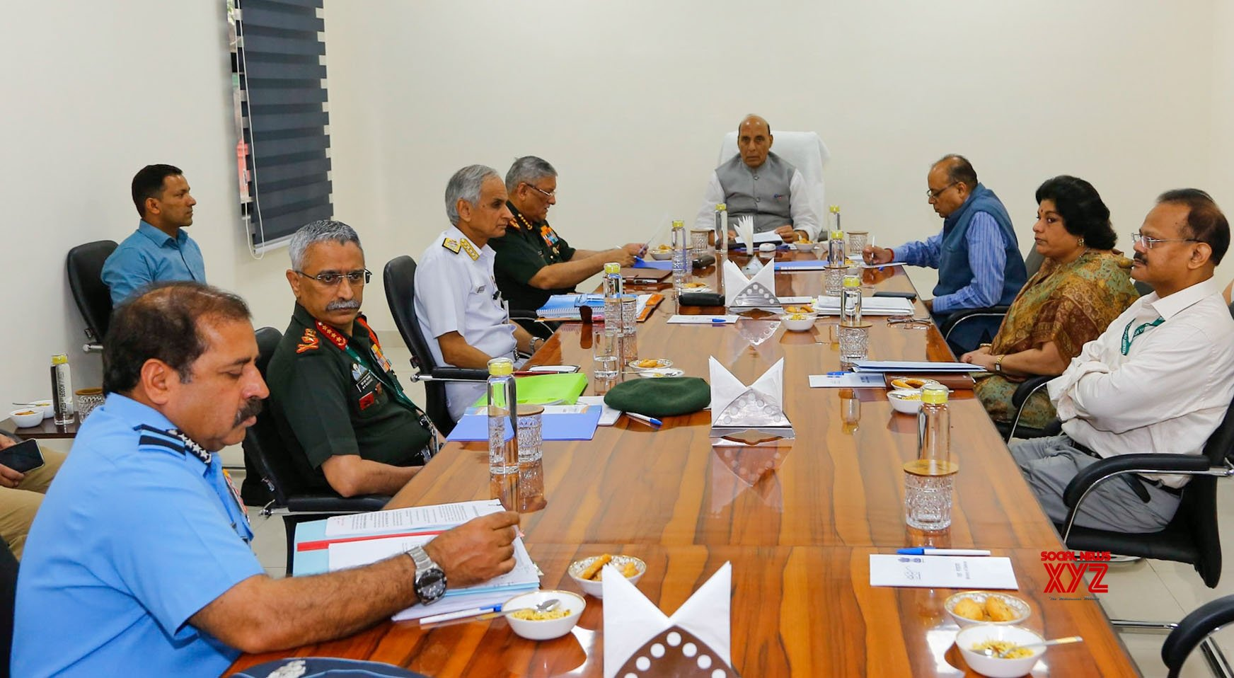 New Delhi: Rajnath Singh reviews action plan of Defence Ministry to deal with COVID - 19 #Gallery