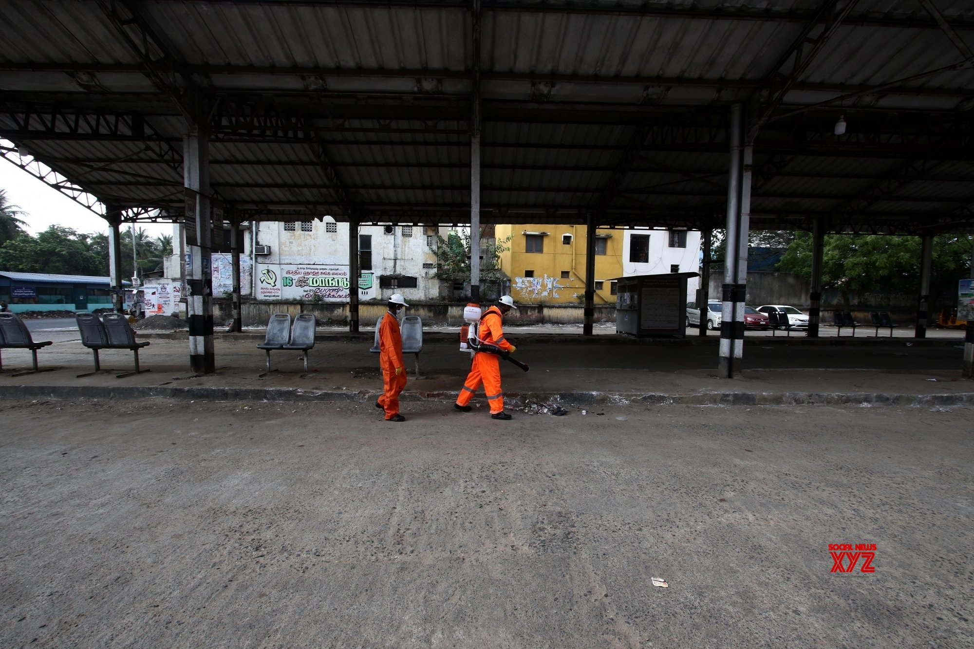 Chennai: City being disinfected on Day 2 of 21 - day nationwide lockdown amid COVID - 19 pandemic #Gallery