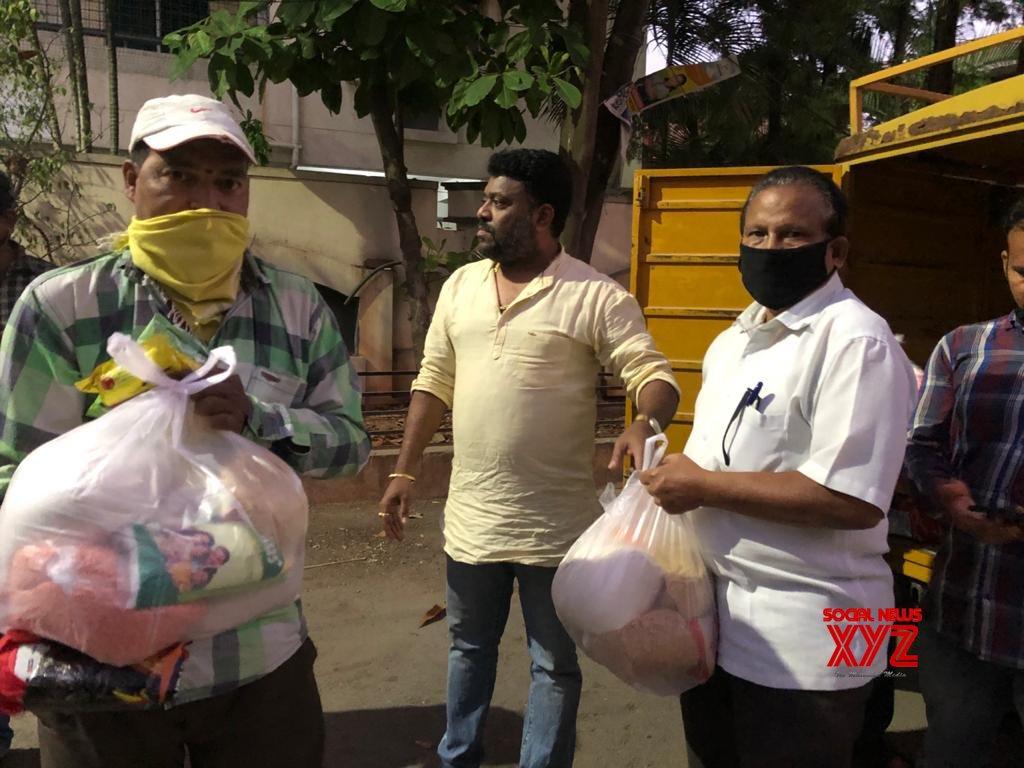 Prashanth Goud Distributes Necessities During COVID 19 Lockdown