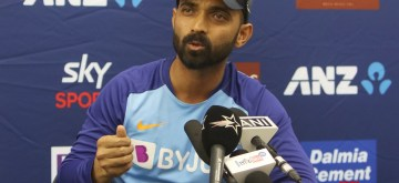 Wellington: Indian player Ajinkya Rahane during a press conference ahead of the first Test against New Zealand at Basin Reserve cricket stadium in Wellington, New Zealand on Feb. 20, 2020. (Photo: Surjeet Yadav/IANS)