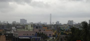 Kolkata: Rains accompanied by strong winds triggered by the impact of severe cyclone Amphan lash Kolkata on May 20, 2020. (Photo: Kuntal Chakrabarty/IANS)
