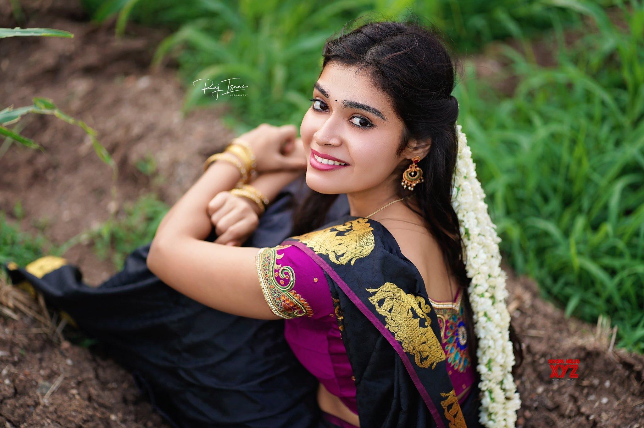 Actress Dharsha Gupta New Glam Traditional Stills