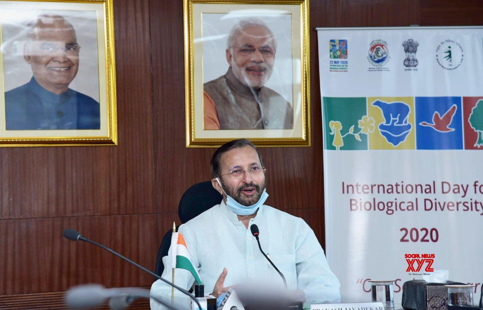 New Delhi: Prakash Javadekar addresses virtual celebration of the International Day for Biological Diversity 2020 #Gallery