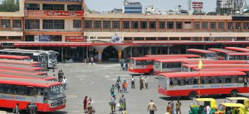 Bengaluru: A view of KSRTC buses at Majestic Bus Stand during the fourth phase of the nationwide lockdown imposed to mitigate the spread of coronavirus, in Bengaluru on May 25, 2020. (Photo: IANS)