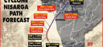 Cyclone Nisarga Path Forecast. (IANS Infographics)
