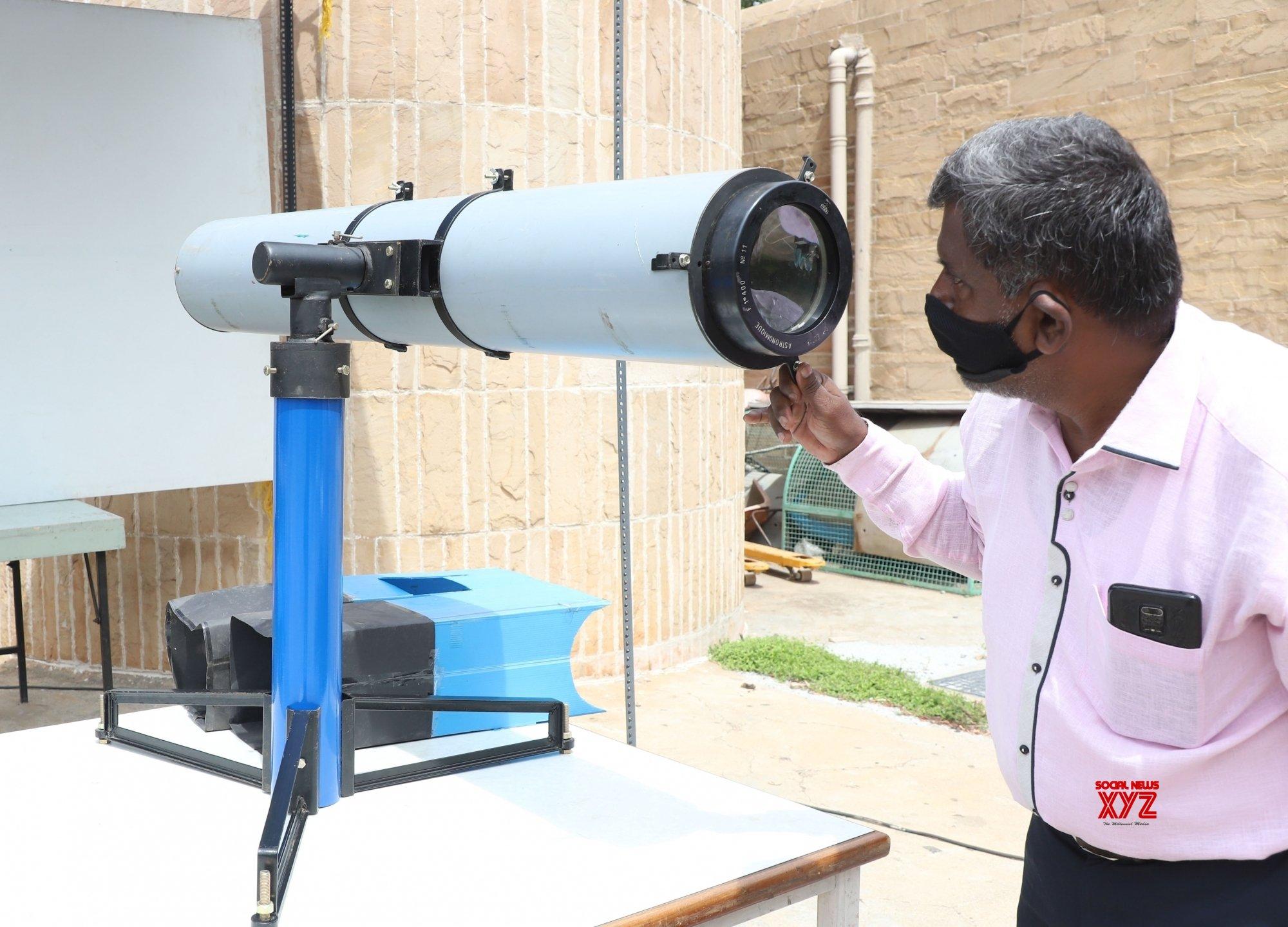 Bengaluru: Preparations underway at Nehru Planetarium to observe tomorrow's Solar Eclipse #Gallery