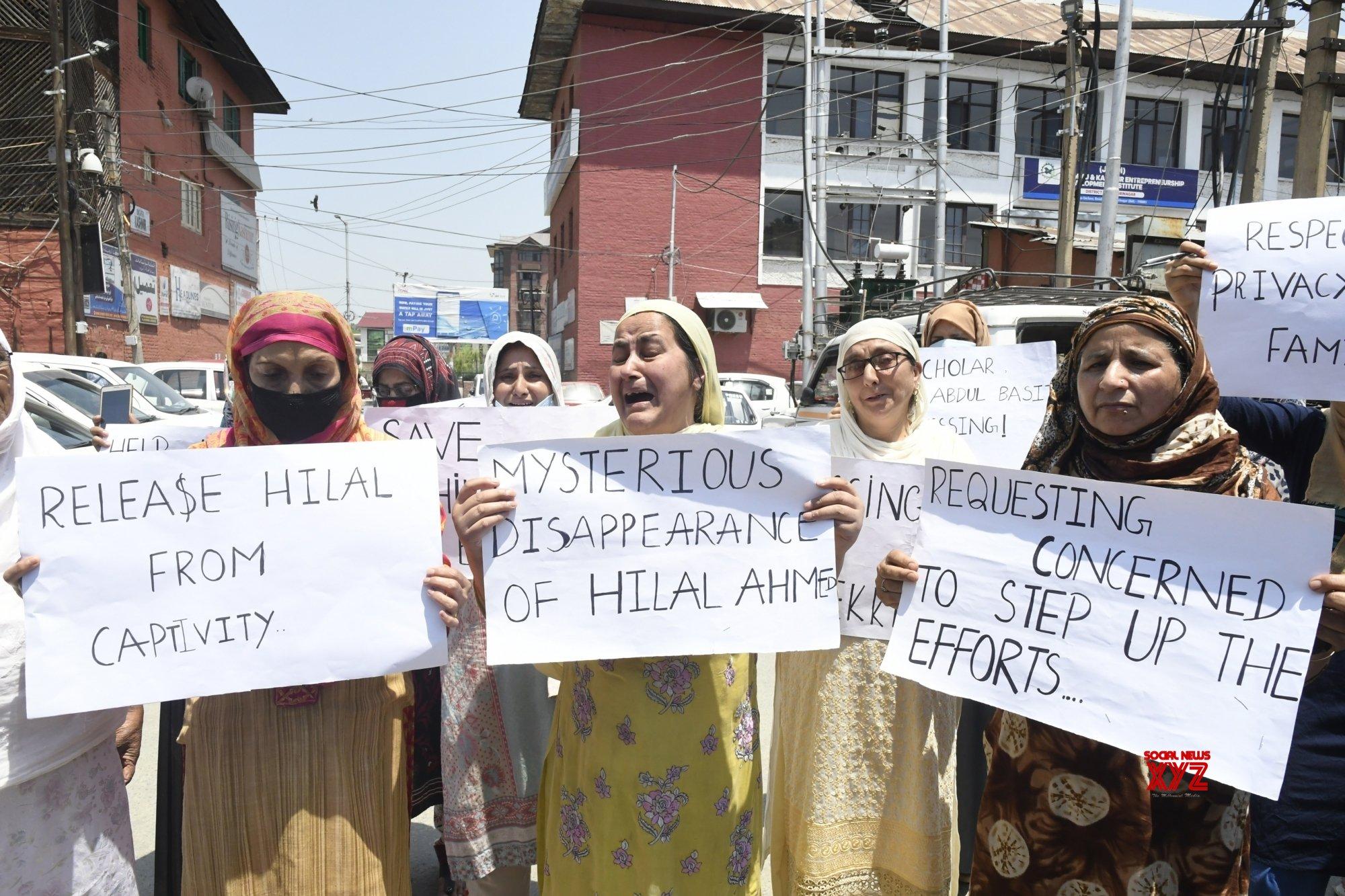 Srinagar: Missing Kashmiri scholar's family seeks help to trace him #Gallery