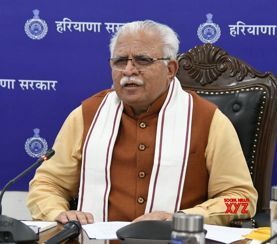 Chandigarh: Manohar Lal Khattar digitally interacts with the students of IIM, Rohtak #Gallery
