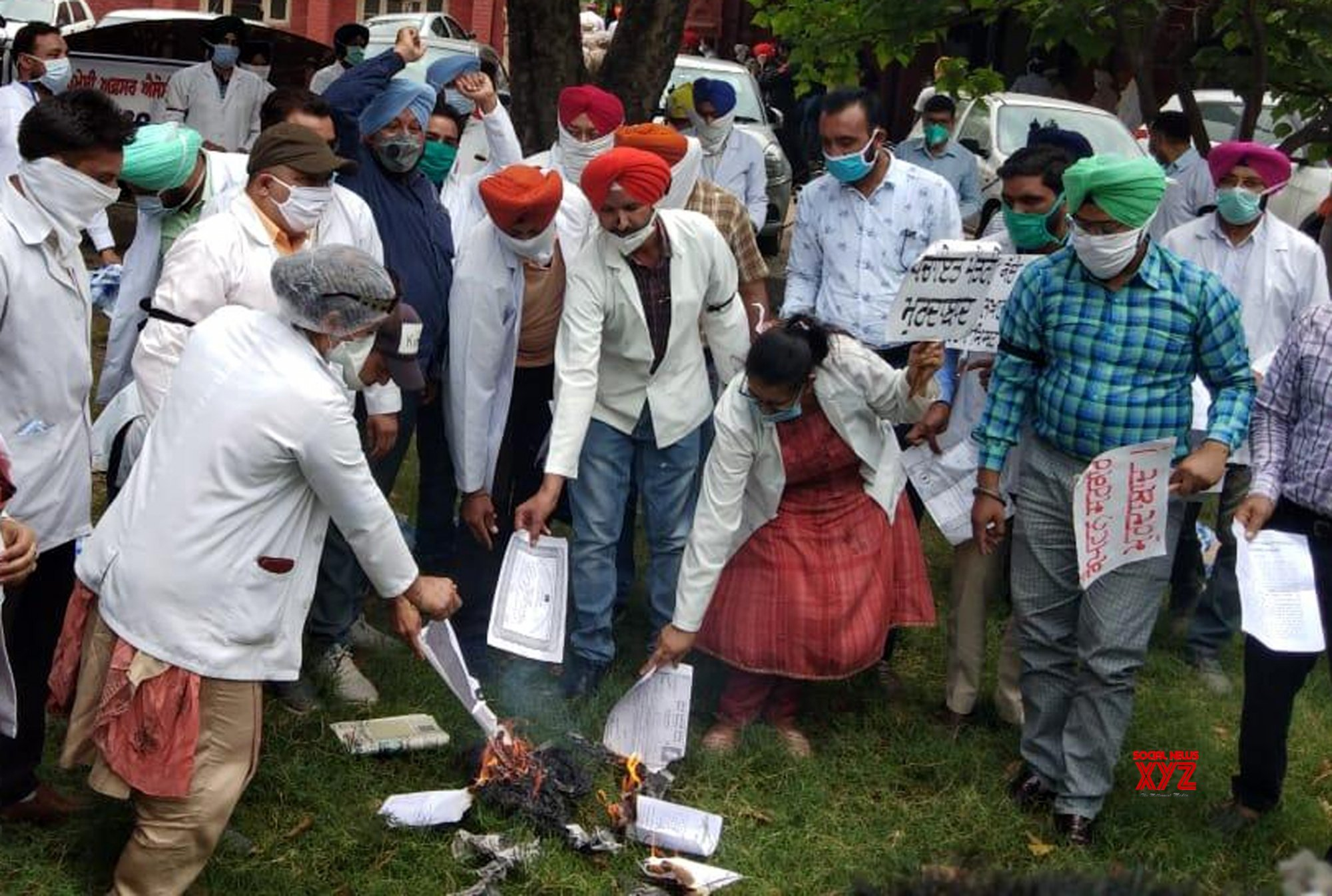 Amritsar: Rural Health Pharmacy Officers Association protests against Punjab Govt over regularisation of jobs #Gallery