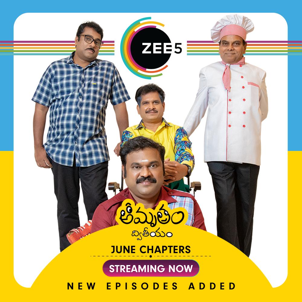 ZEE5 Premiere's New Episodes Of Popular Original Amrutham Dhvitheeyam
