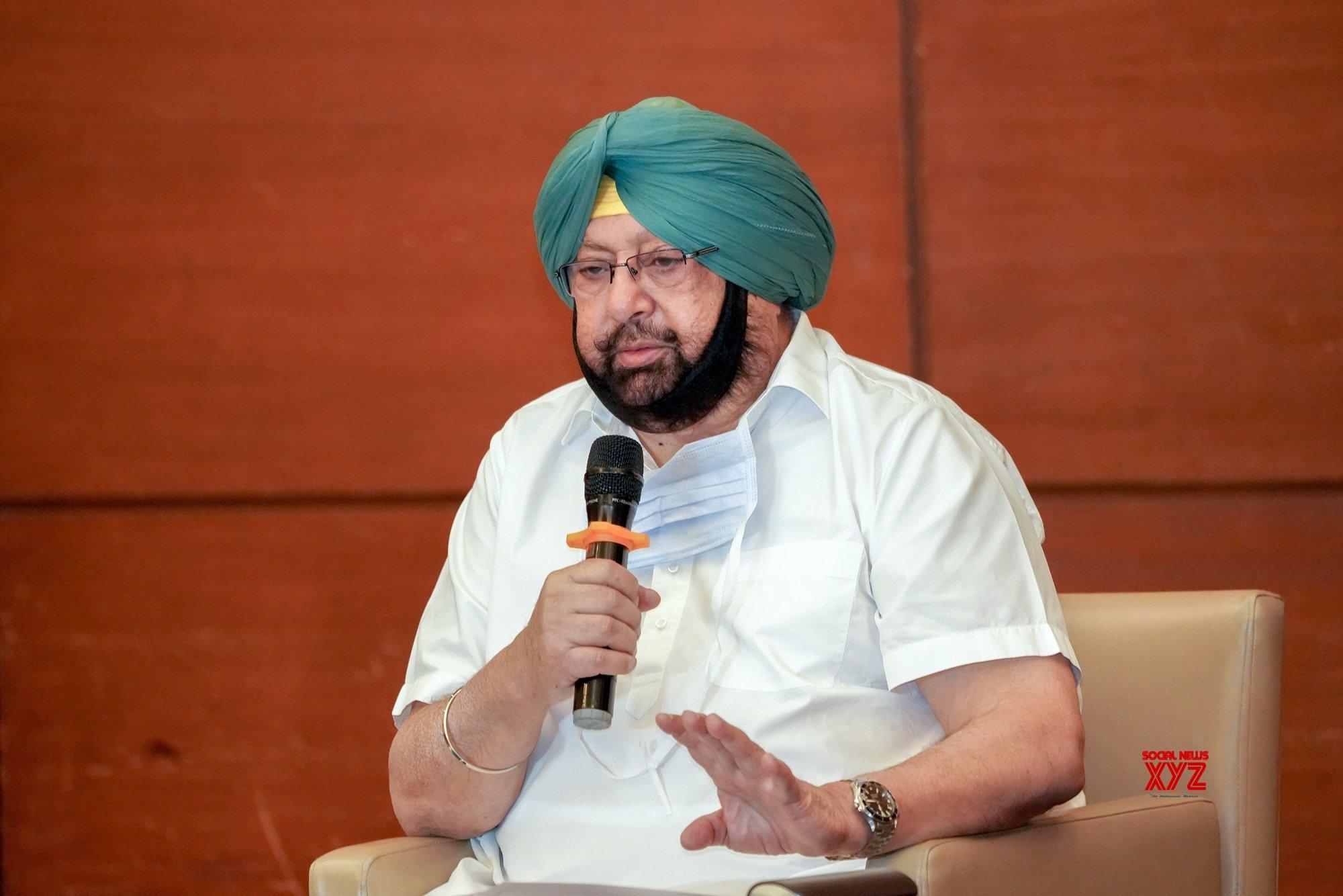 Chandigarh: Punjab CM talks to the media #Gallery