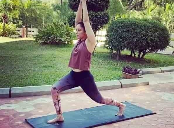 Tamannaah uses household objects to workout amid lockdown