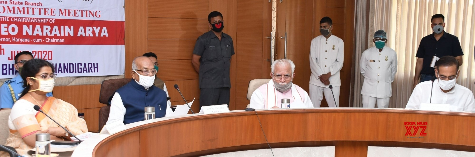 Chandigarh: Haryana Governor chairs meeting of managing committee of Indian Red Cross Society's State Branch #Gallery